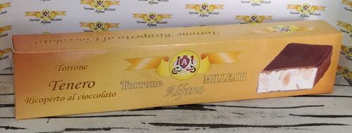 Torrone TENERO ricoperto al CIOCCOLATO / Soft nougat with chocolate